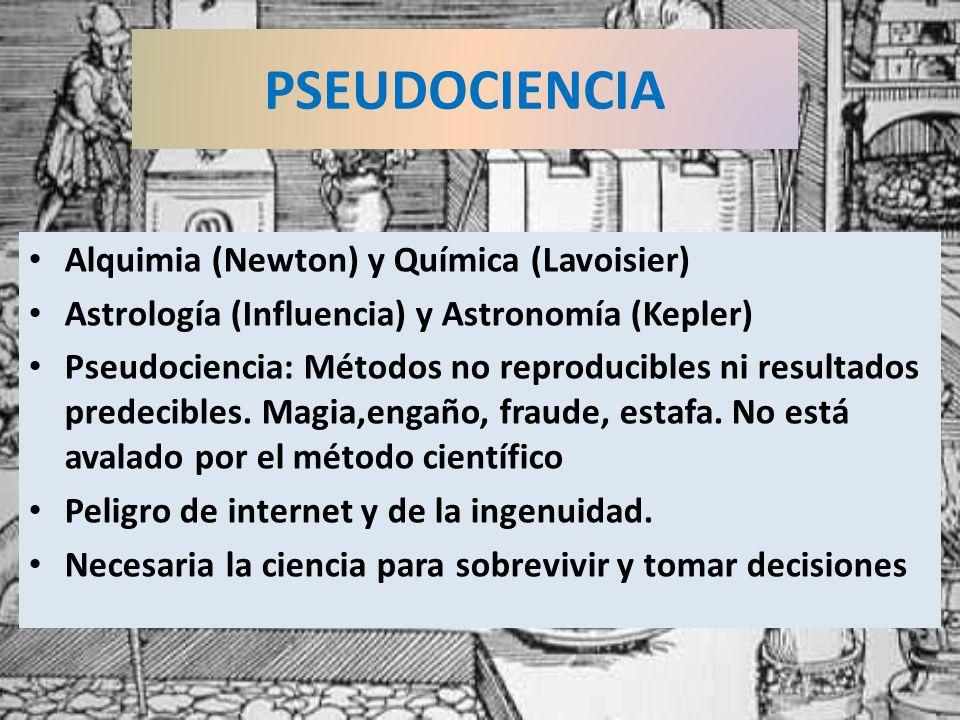 PSEUDOCIENCIA Alquimia (Newton) y Química (Lavoisier)