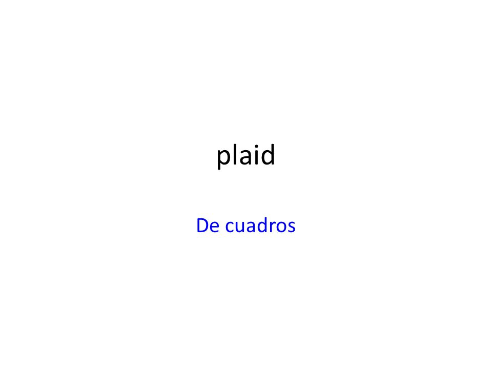 plaid De cuadros