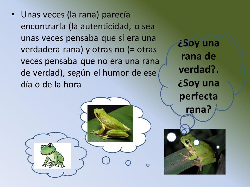 ¿Soy una rana de verdad . ¿Soy una perfecta rana
