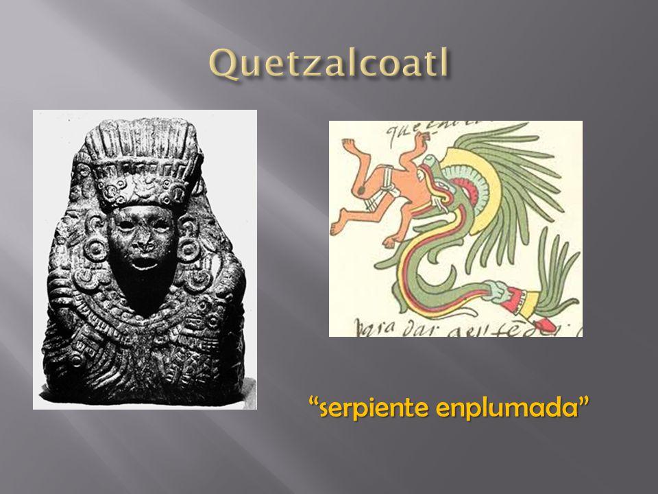 Quetzalcoatl serpiente enplumada