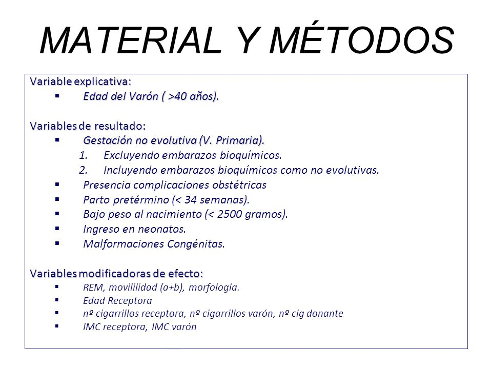 MATERIAL Y MÉTODOS Variable explicativa: