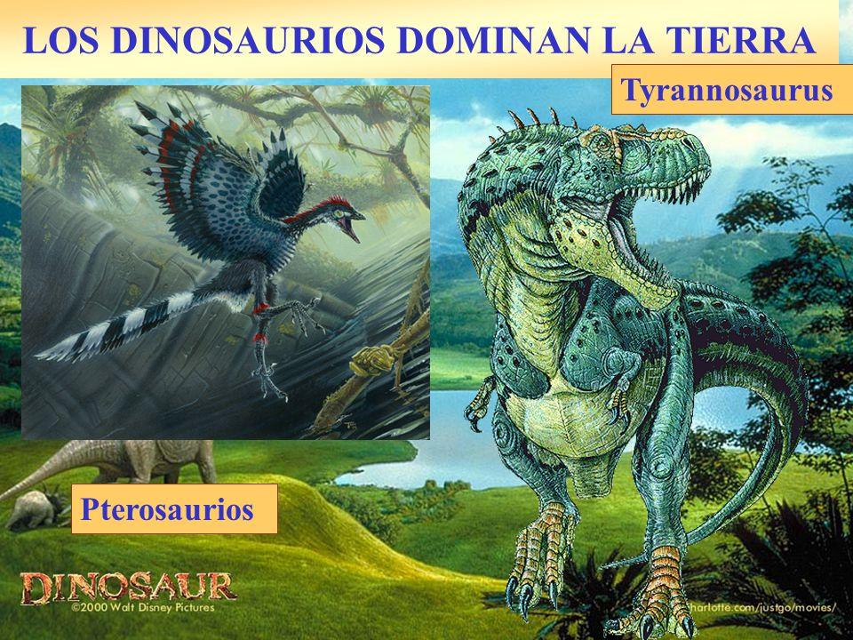 LOS DINOSAURIOS DOMINAN LA TIERRA