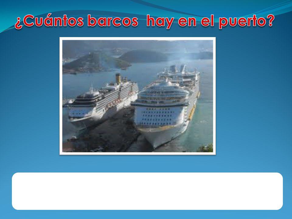 ¿Cuántos barcos hay en el puerto