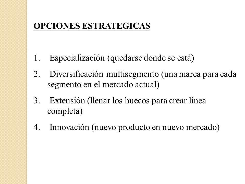 OPCIONES ESTRATEGICAS