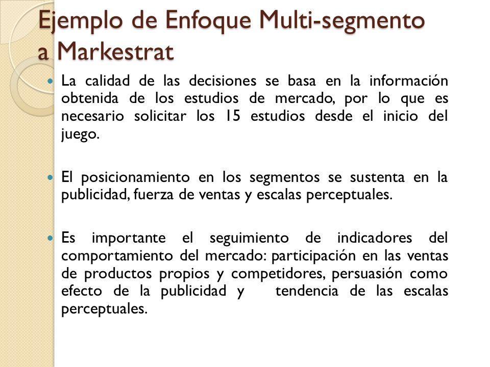 Ejemplo de Enfoque Multi-segmento a Markestrat