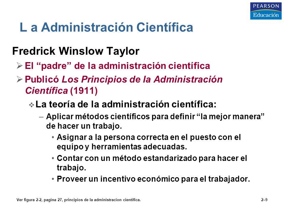 L a Administración Científica