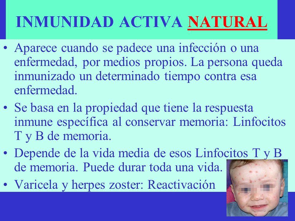 INMUNIDAD ACTIVA NATURAL