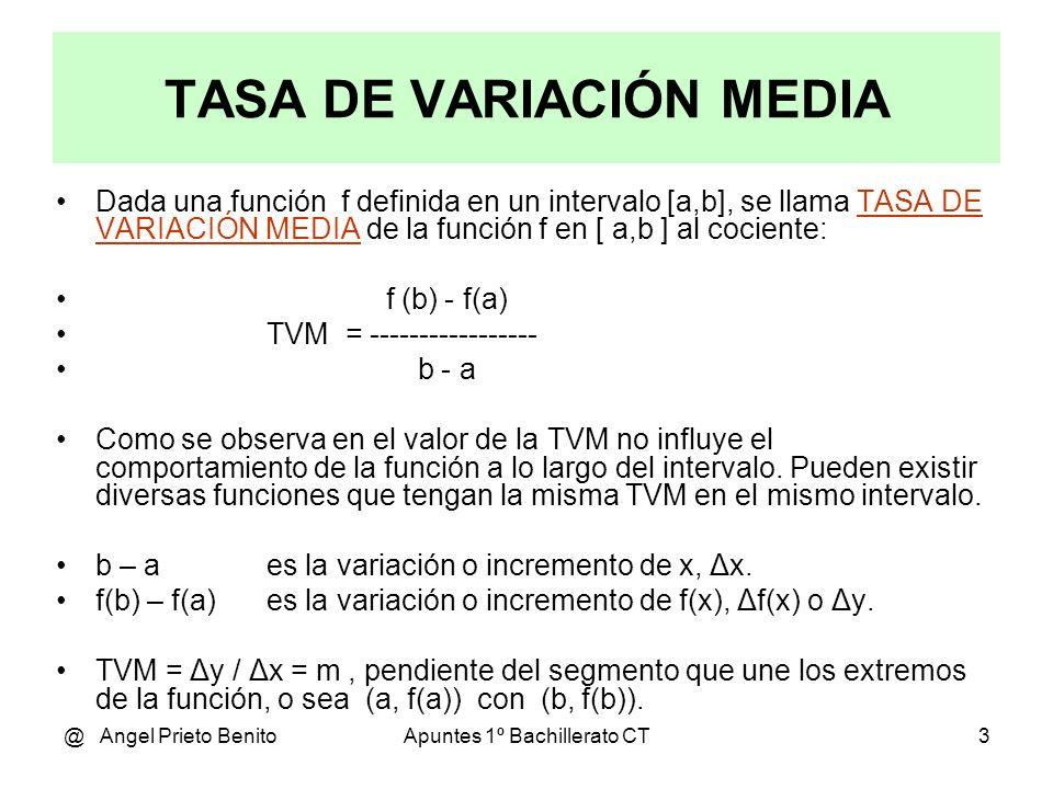 TASA DE VARIACIÓN MEDIA