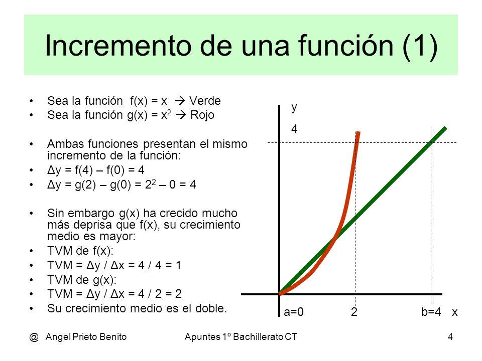 Incremento de una función (1)
