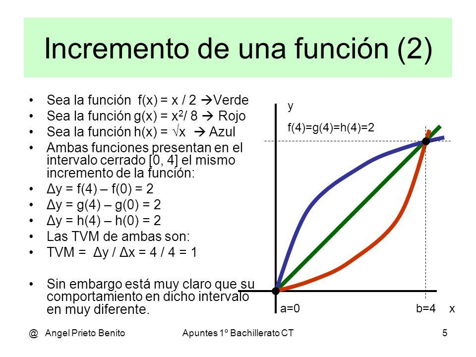Incremento de una función (2)