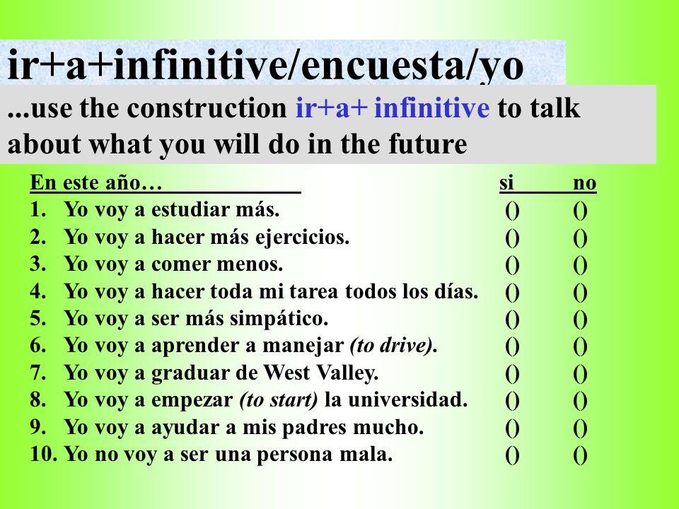 ir+a+infinitive/encuesta/yo