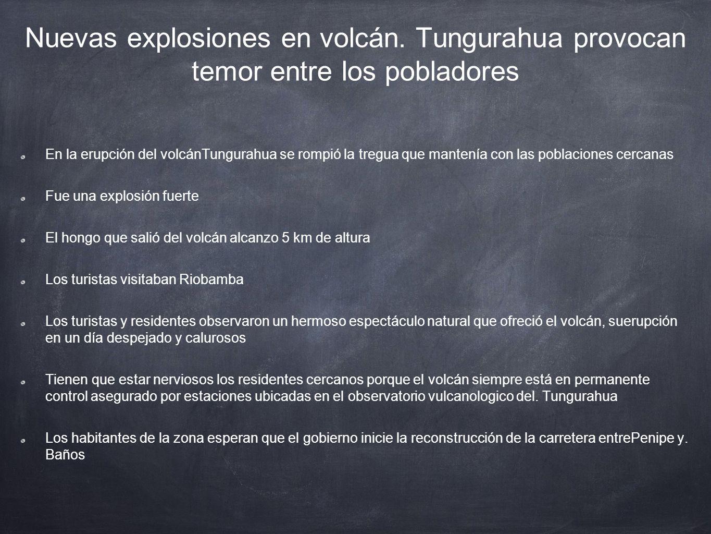 Nuevas explosiones en volcán