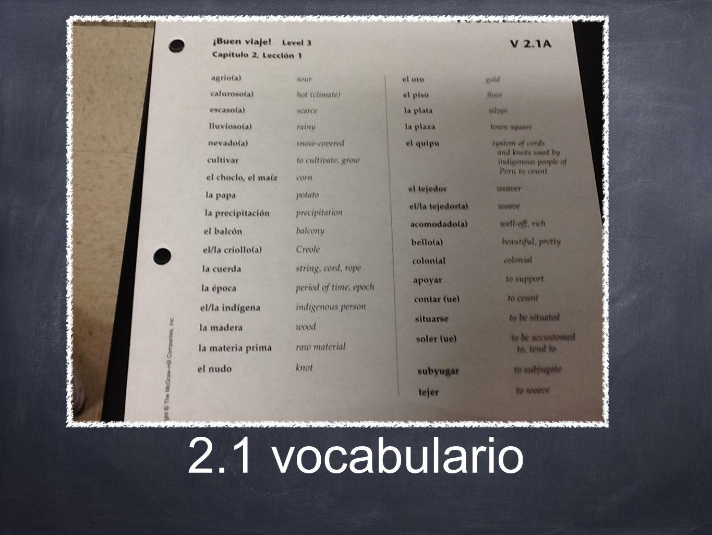 2.1 vocabulario
