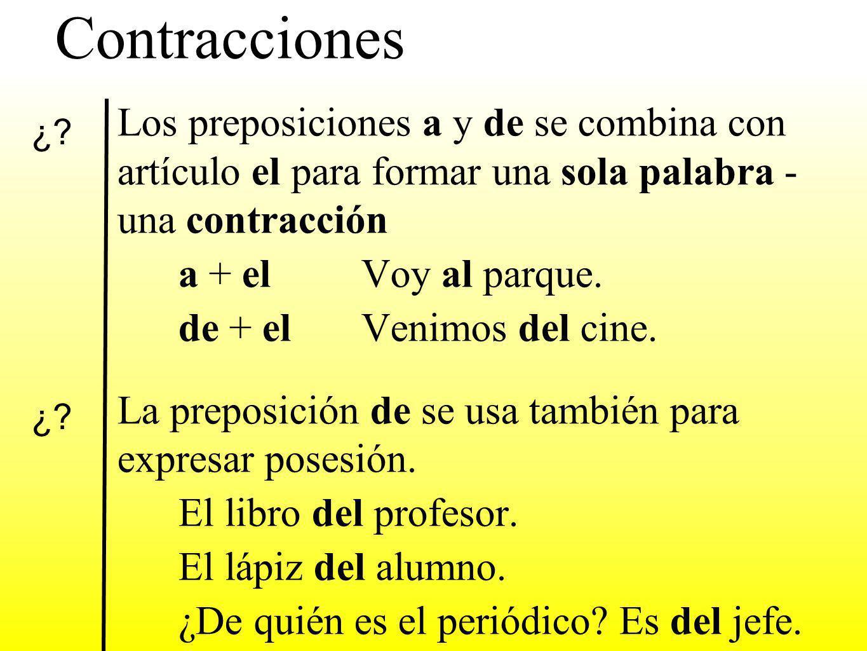 Contracciones