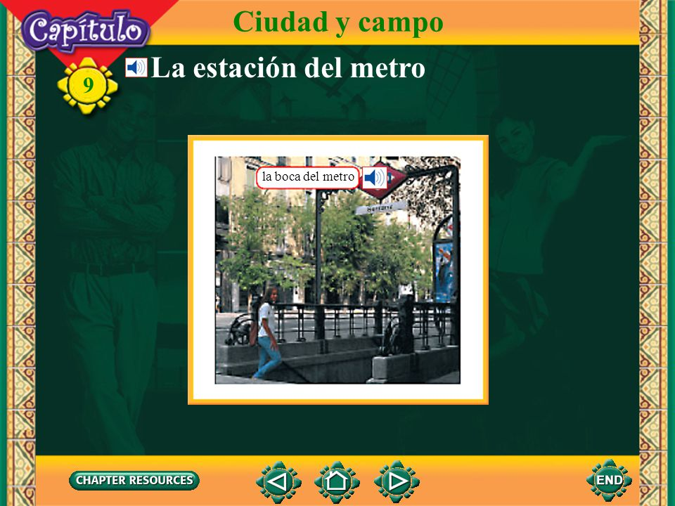 Ciudad y campo La estación del metro la boca del metro