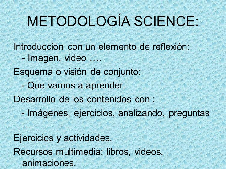 METODOLOGÍA SCIENCE: