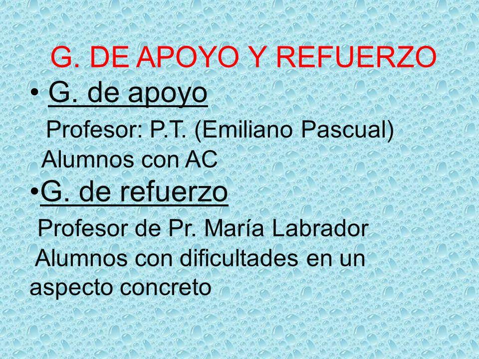 Profesor: P.T. (Emiliano Pascual) G. de refuerzo