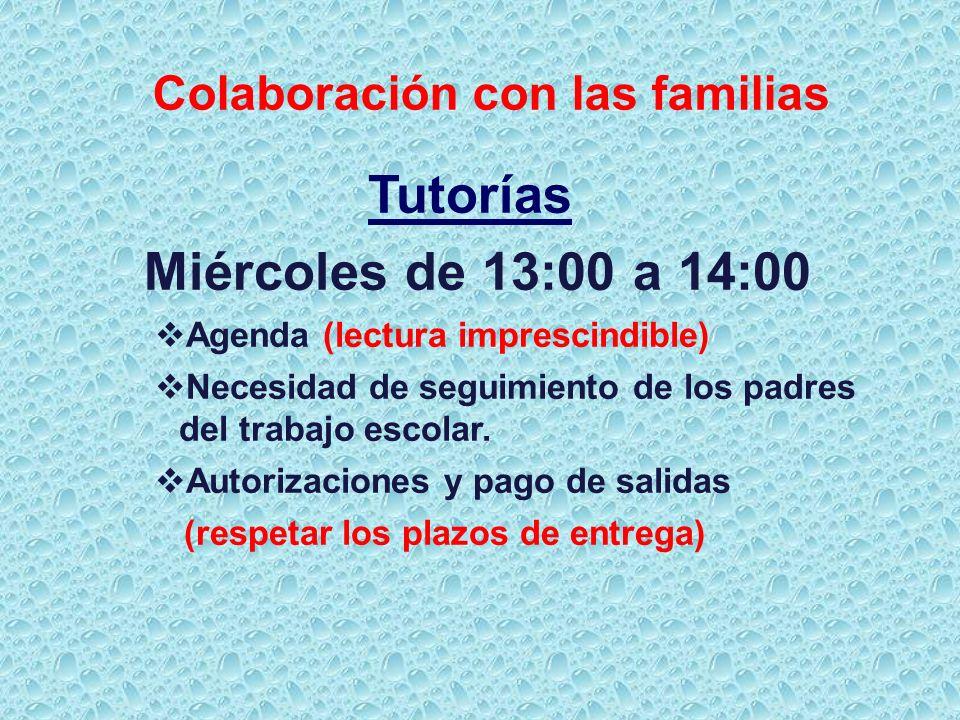Colaboración con las familias