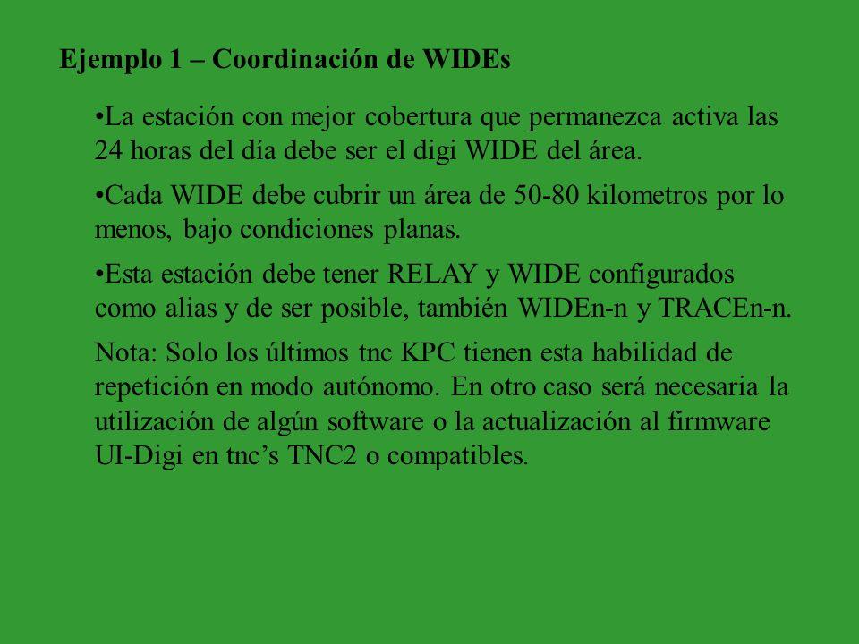 Ejemplo 1 – Coordinación de WIDEs
