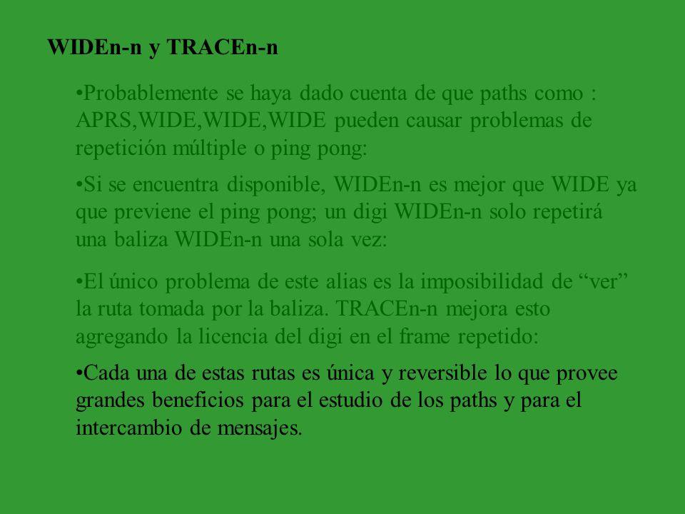WIDEn-n y TRACEn-n