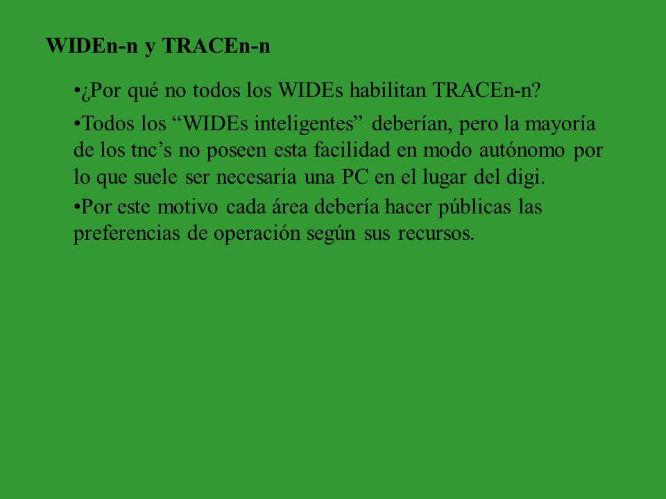 WIDEn-n y TRACEn-n ¿Por qué no todos los WIDEs habilitan TRACEn-n