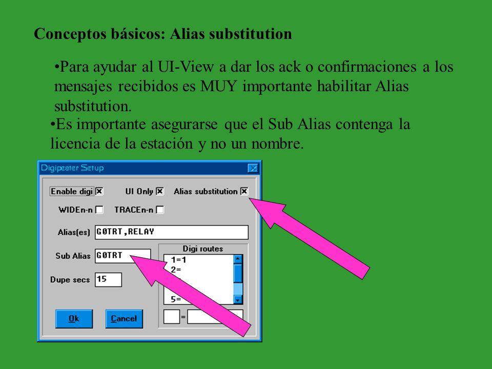 Conceptos básicos: Alias substitution