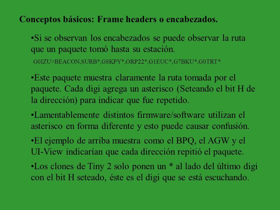 Conceptos básicos: Frame headers o encabezados.
