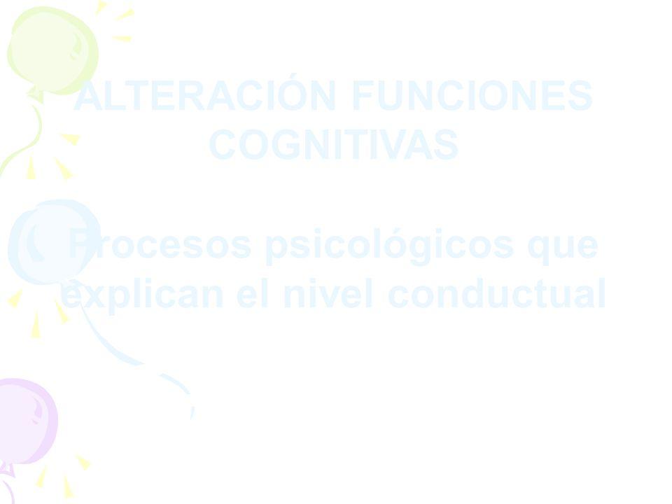 ALTERACIÓN FUNCIONES COGNITIVAS