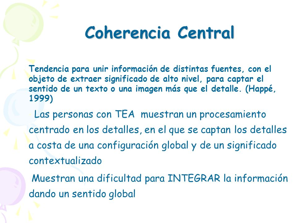 Coherencia Central