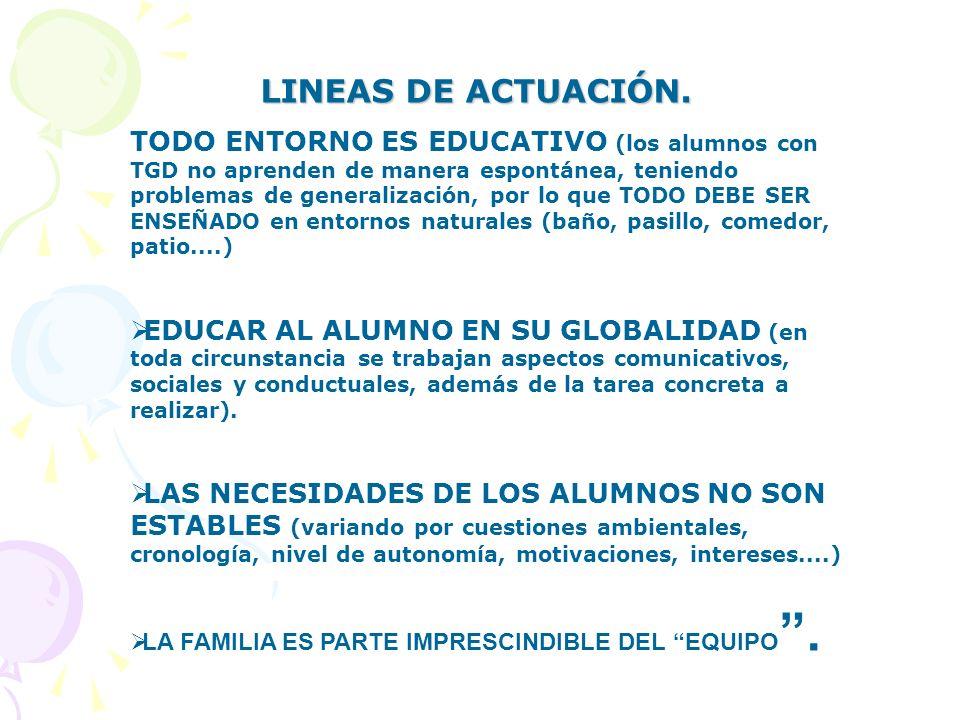 LINEAS DE ACTUACIÓN.
