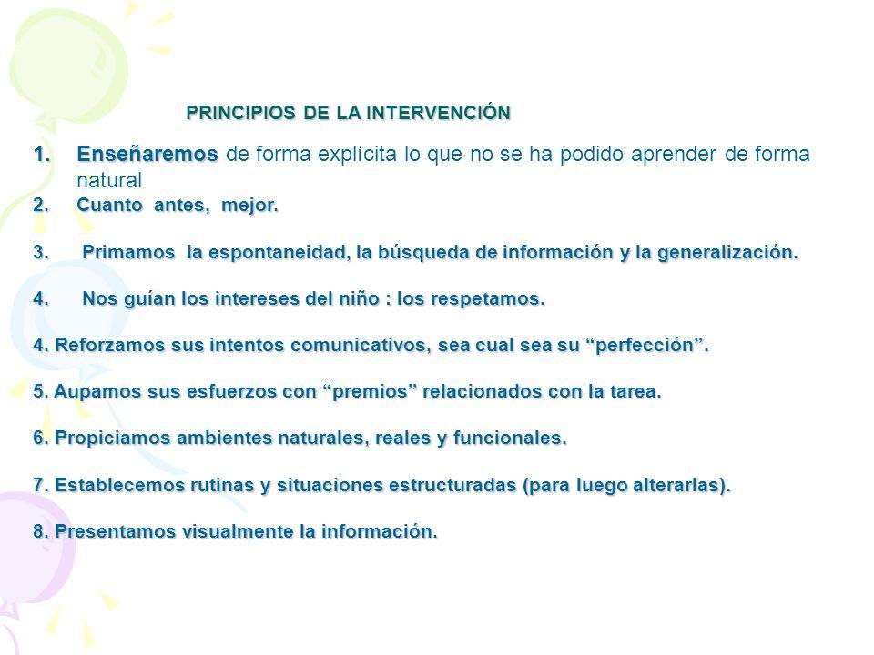 PRINCIPIOS DE LA INTERVENCIÓN