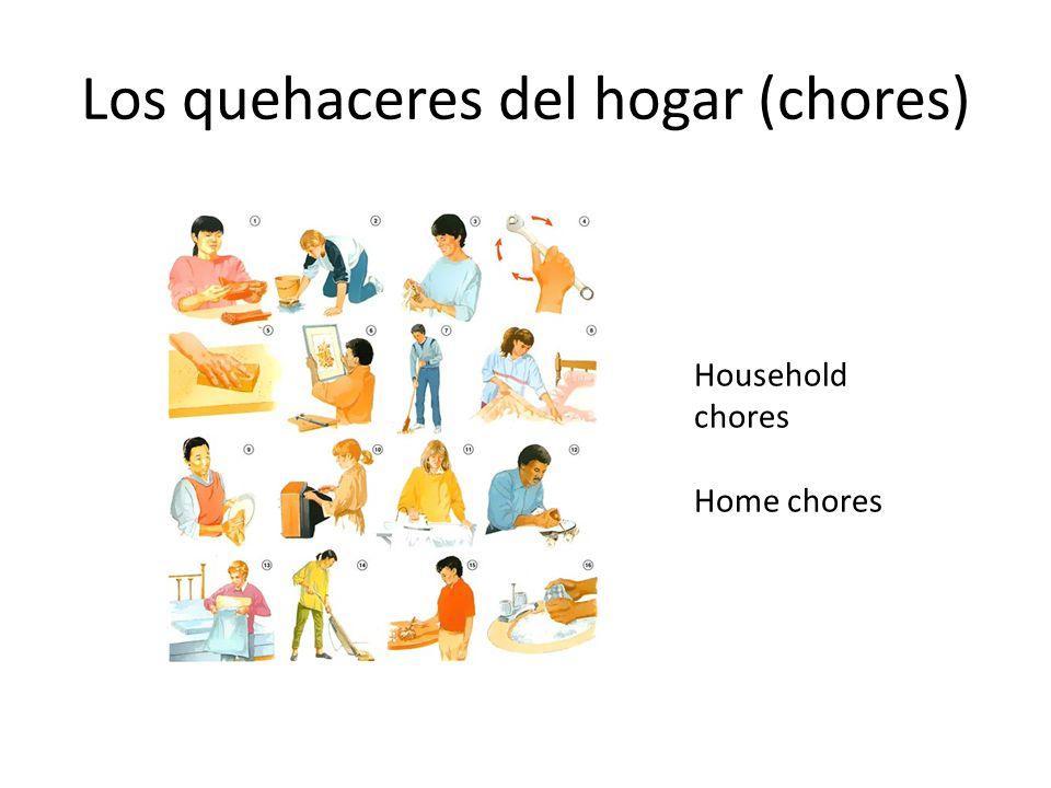 Los quehaceres del hogar (chores)