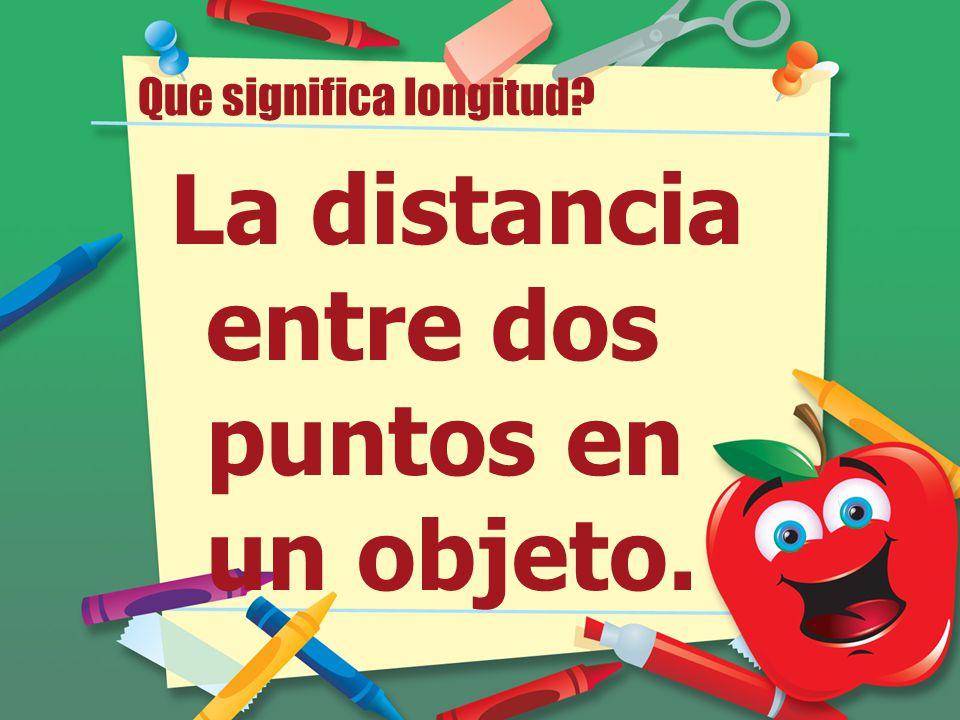 Que significa longitud