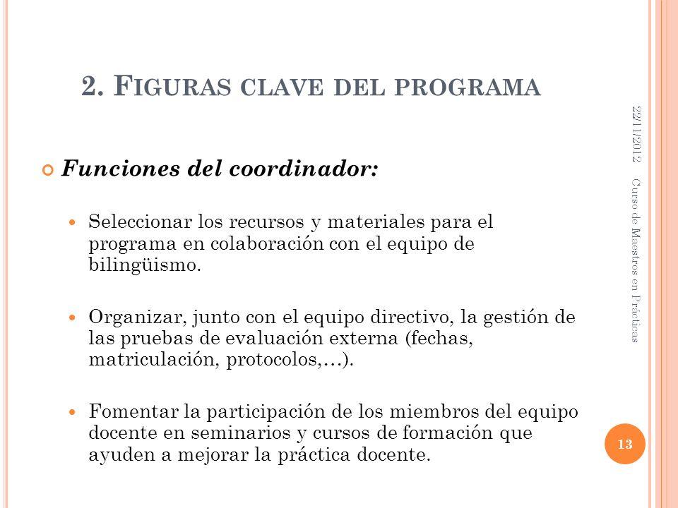 2. Figuras clave del programa