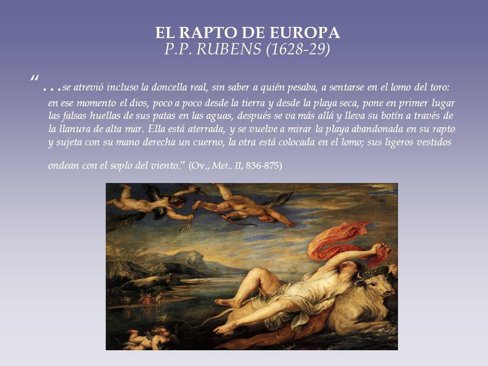 EL RAPTO DE EUROPA P.P. RUBENS (1628-29)