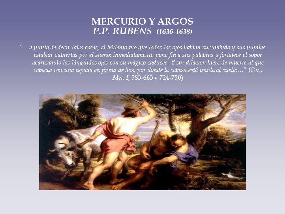 MERCURIO Y ARGOS P.P. RUBENS (1636-1638)