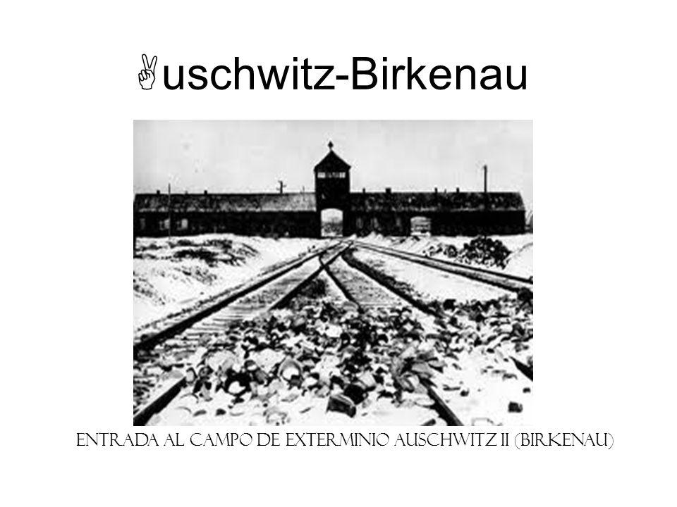 Entrada al campo de exterminio Auschwitz II (Birkenau)