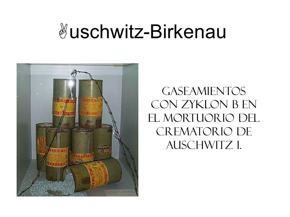 uschwitz-Birkenau Gaseamientos con Zyklon B en el mortuorio del crematorio de Auschwitz I. Instructor Note: