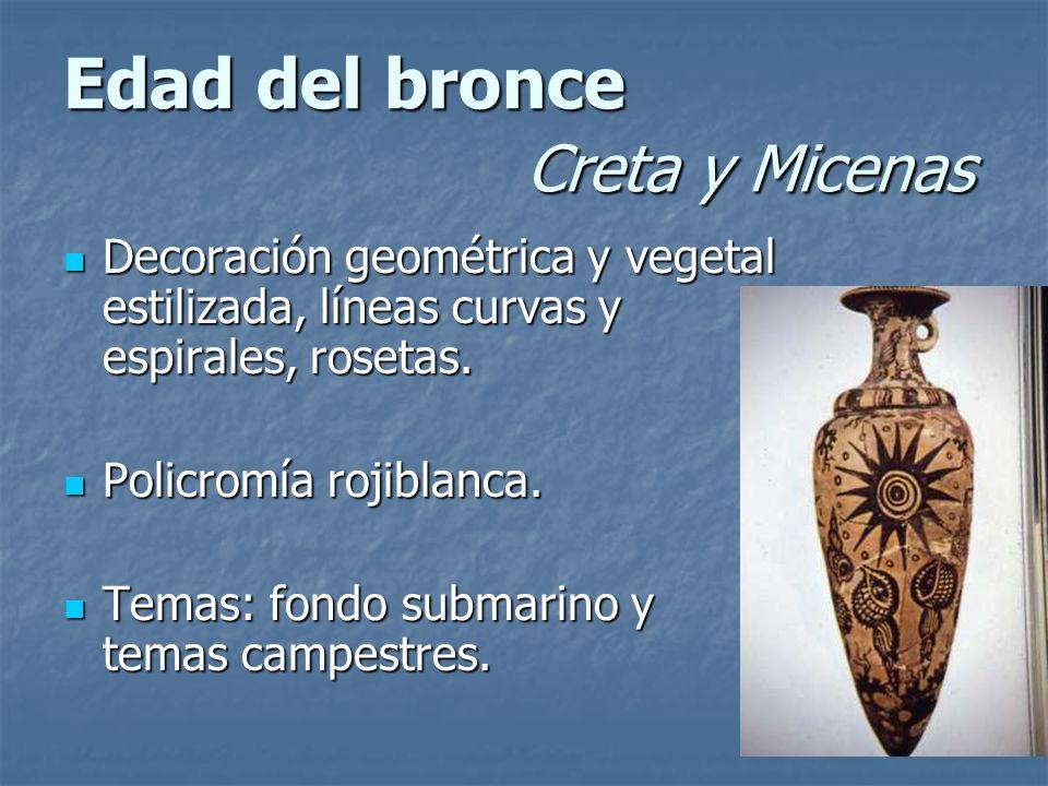 Edad del bronce Creta y Micenas