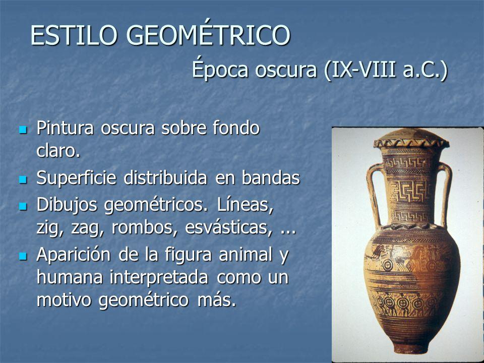 ESTILO GEOMÉTRICO Época oscura (IX-VIII a.C.)