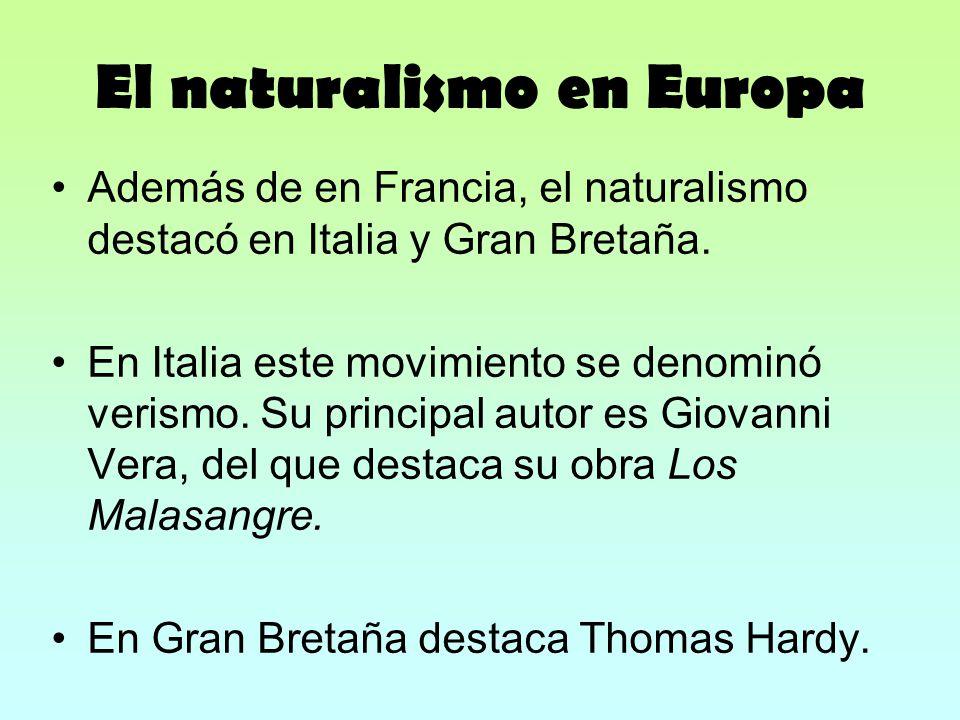 El naturalismo en Europa