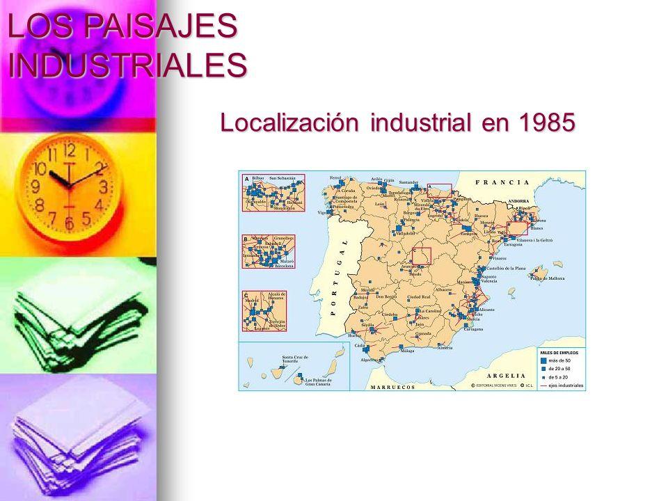 Localización industrial en 1985