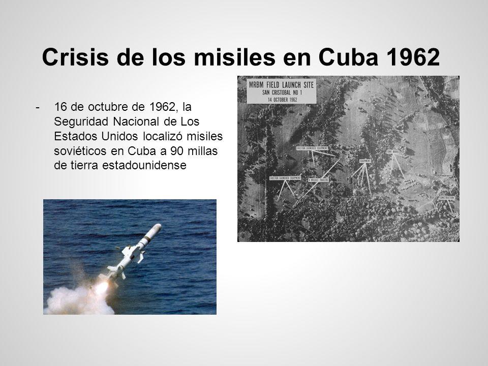 Crisis de los misiles en Cuba 1962