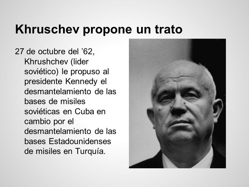 Khruschev propone un trato