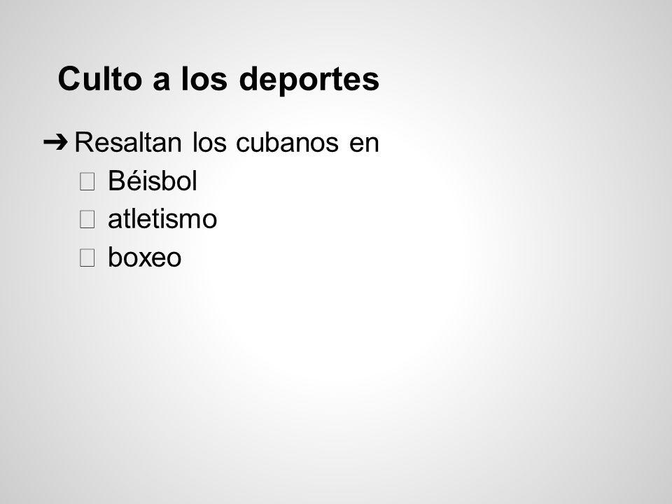 Culto a los deportes Resaltan los cubanos en Béisbol atletismo boxeo