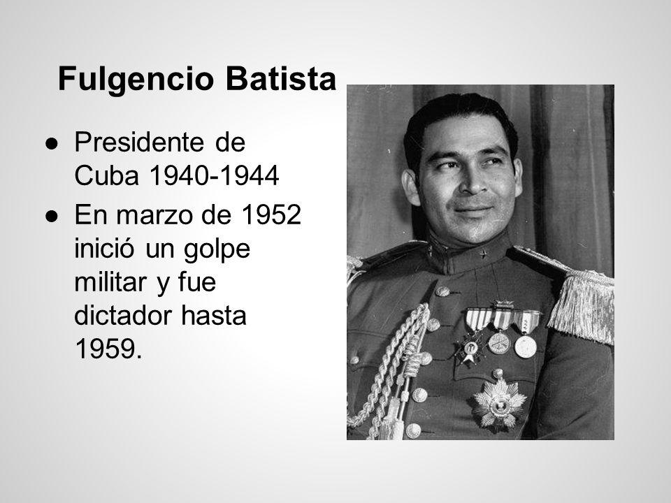 Fulgencio Batista Presidente de Cuba 1940-1944
