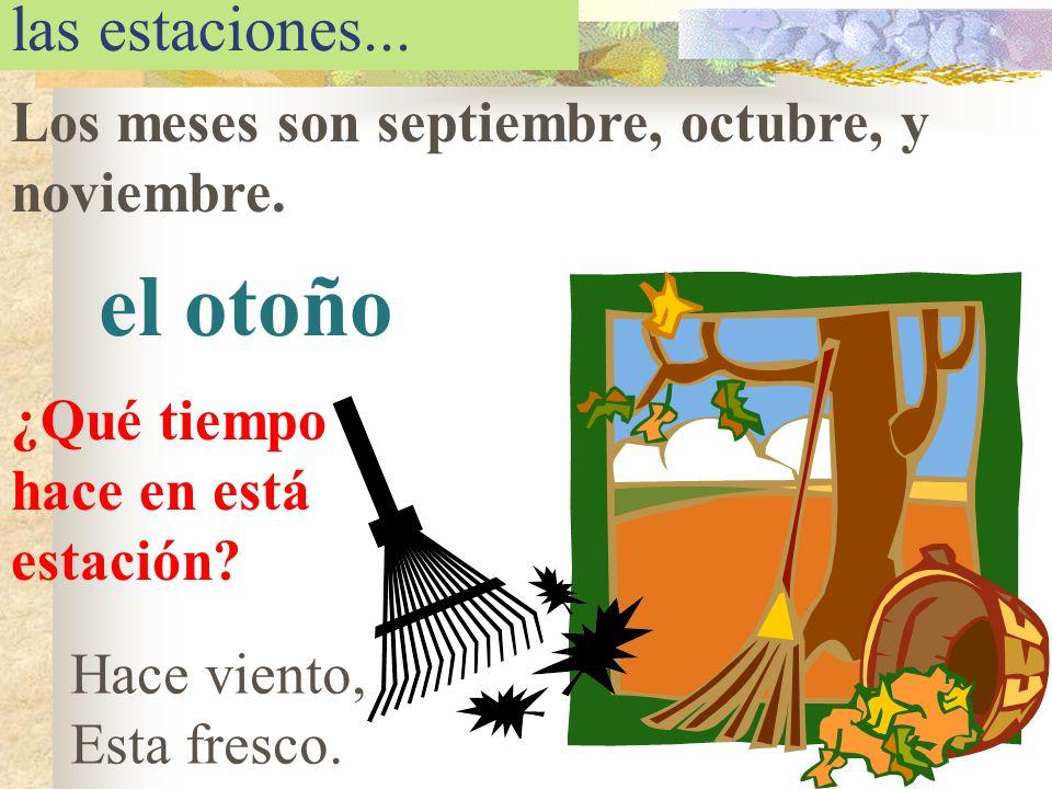 el otoño las estaciones...