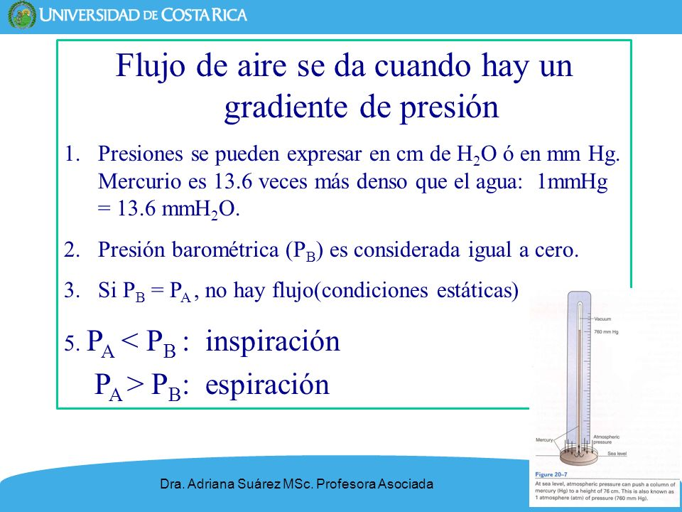 Flujo de aire se da cuando hay un gradiente de presión