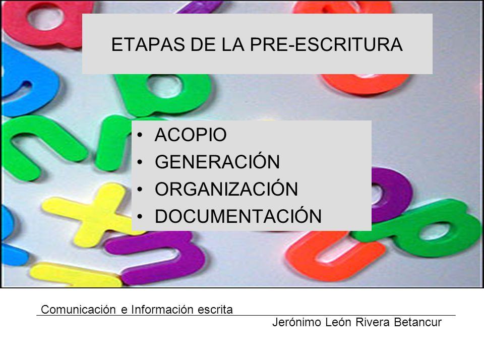 ETAPAS DE LA PRE-ESCRITURA