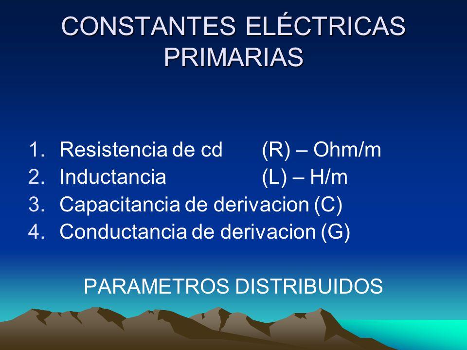 CONSTANTES ELÉCTRICAS PRIMARIAS